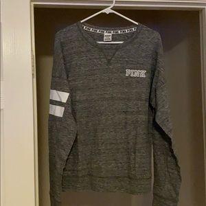 BRAND NEW grey PINK long sleeve shirt medium
